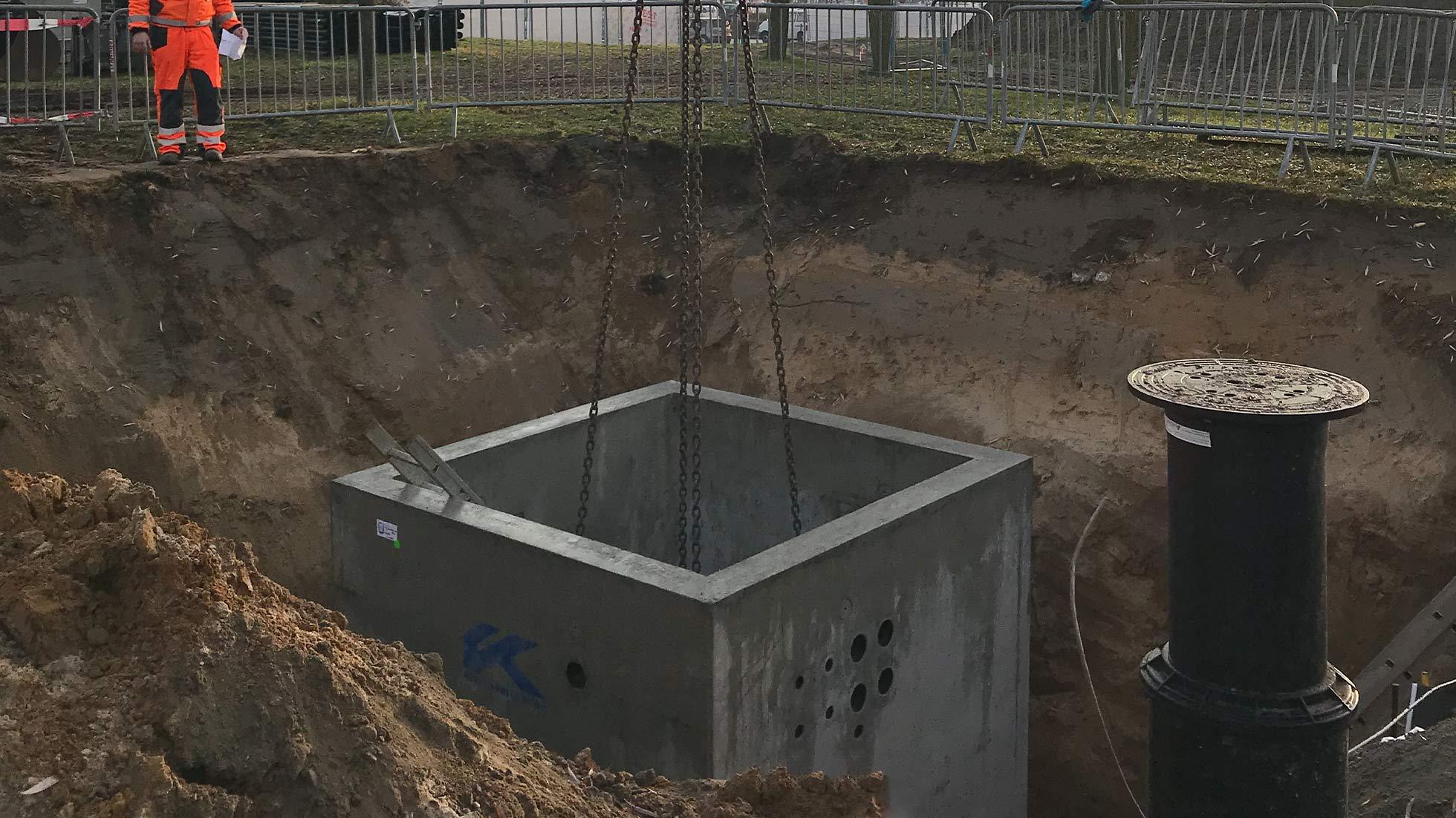 Einfache Logistik auf der Baustelle